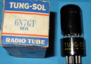 Tung-Sol 6N7GT Black Glass