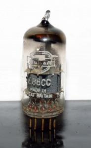 Mullard E88CC/6922 Wrinkled Glass O-getter