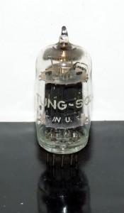 Tung-Sol 12au7 black plates vertical D-getter