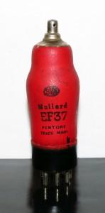 Mullard EF37/6J7GT Red bottle