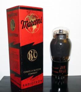 Marconi JAN 6V6G Smoked Glass